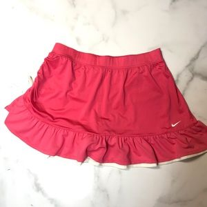 Nike Dri Fit Pink Tennis Ruched Skirt